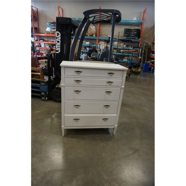 HADDON HALL 5 DRAWER PAINTED WHITE CHEST OF DRAWERS