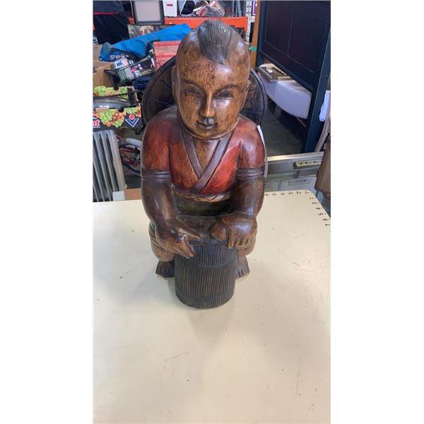 "Eastern carved solid wood figure 20"""