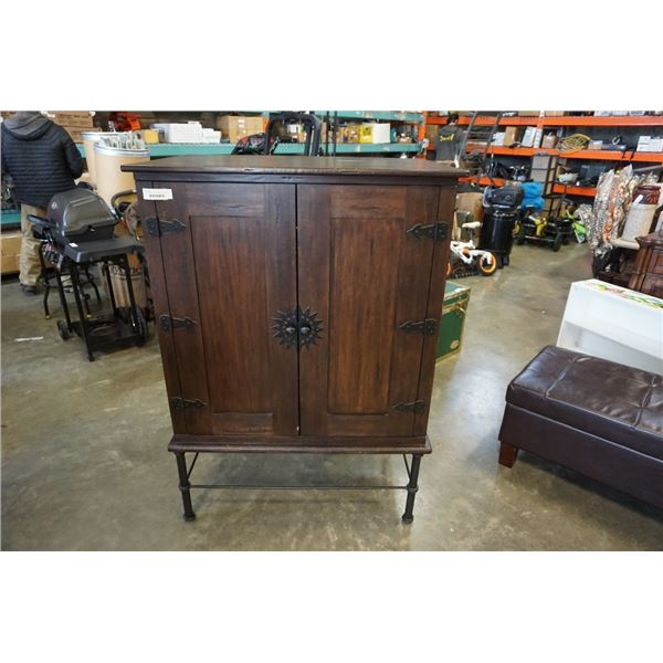 PIER 1 IMPORTS CABINET ON METAL LEGS