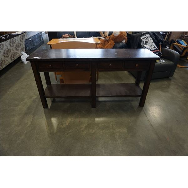 SOLID WOOD SOFA TABLE WITH DRAWERS