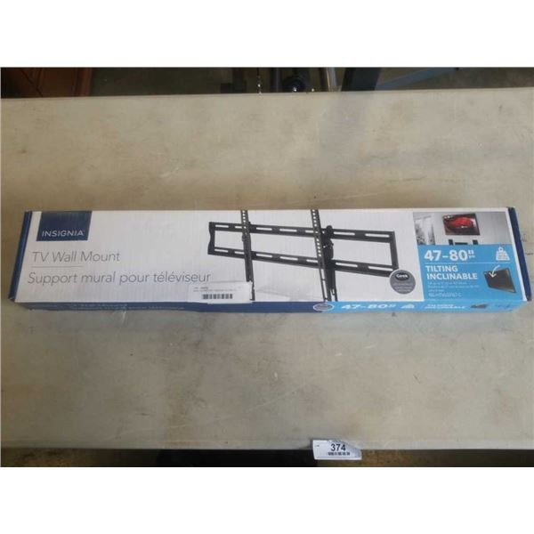 NEW OVERSTOCK INSIGNIA TILTING TV WALL MOUNT 47-80 INCHES 120LB CAPACITY