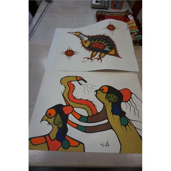 2 signed original aboriginal art
