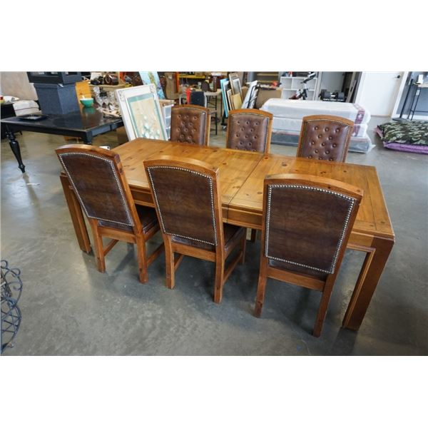 SALEM HOUSE DINING TABLE WITH LEAF AND 6 CHAIRS