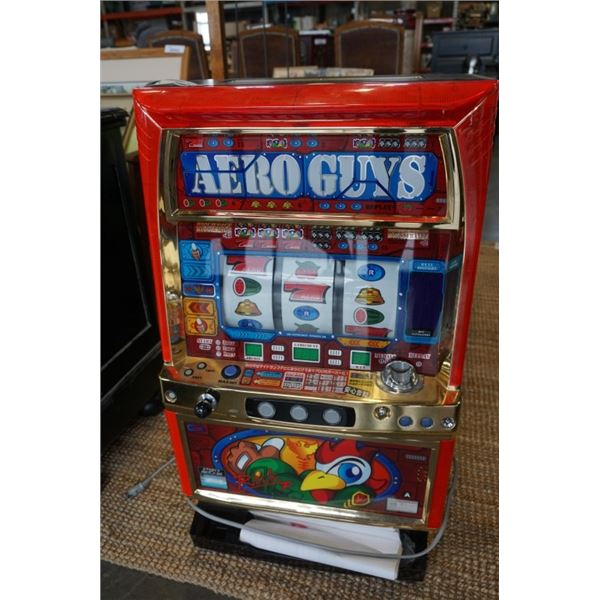 AERO GUYS ARISTOCRAT PACHISLO SLOT MACHINE WITH KEY, TESTED AND WORKING WITH TOKENS AND MANUAL