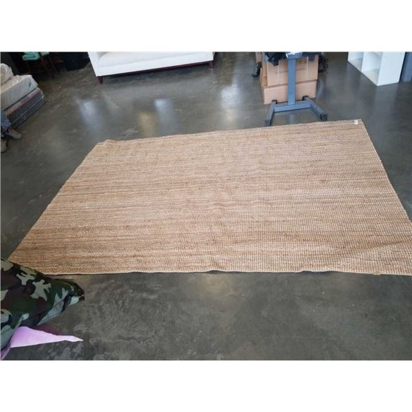 LARGE IKEA JUTE CARPET APPROX 9 1/2 FOOT