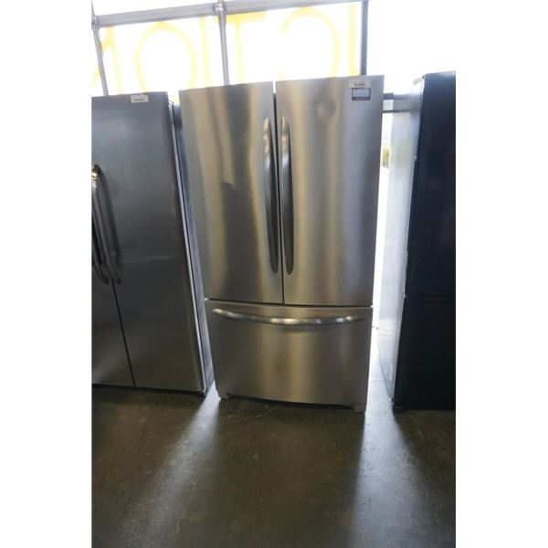 FRIGIDAIRE GALLERY STAINLESS FRENCH DOOR FRIDGE WITH BOTTOM FREEZER - AS IS 36 INCH