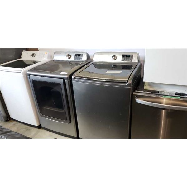GREY SAMSUNG WASHER AND DRIER SMARTCARE VRT PLUS AND MULTISTEAM, MOISTURESENSOR, SMARTCARE - RUSTING