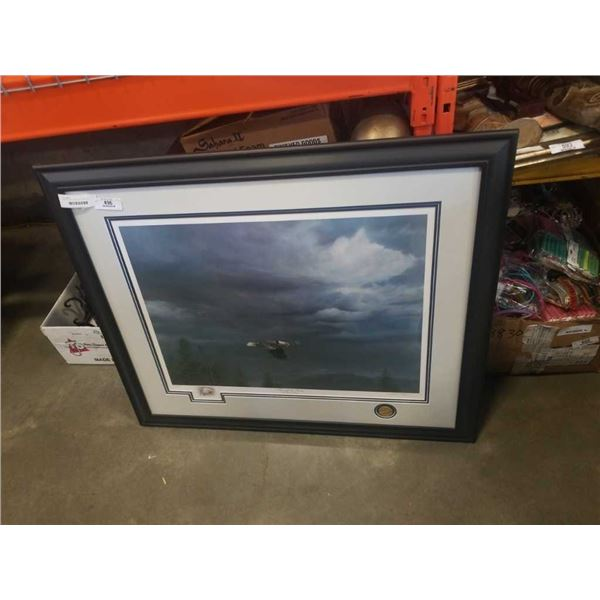 MICHAEL PAPE LIMITED EDITION PRINT THROUGH THE STORM - DUCKS UNLIMITED