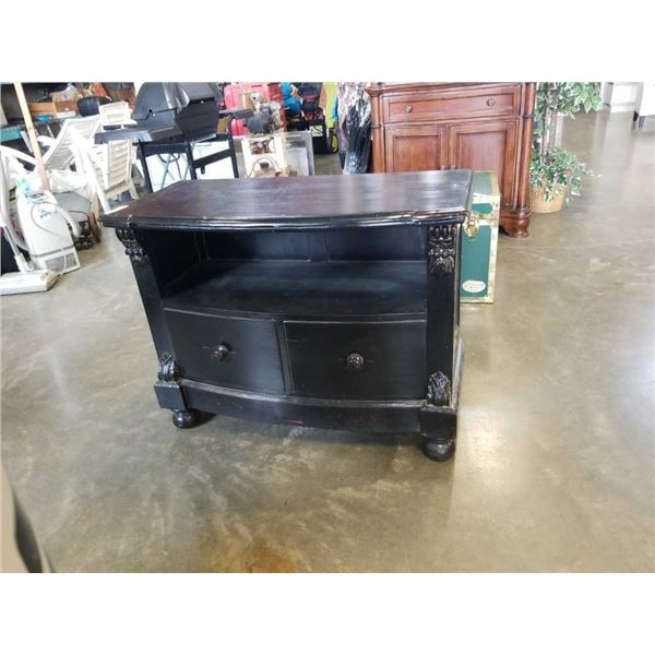 Reproduction black entertainment stand