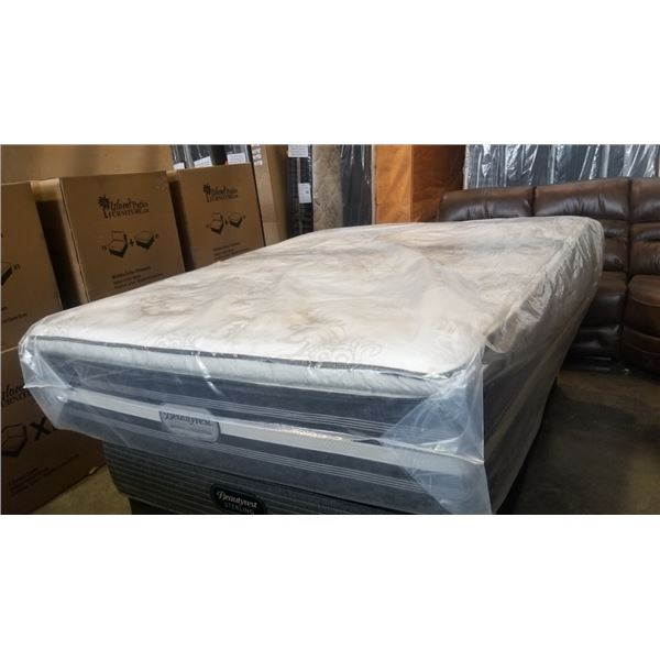 FLOOR MODEL QUEEN SIZE BEAUTY REST IMPERIAL COLLECTION BAYMORE HI-LOFT PILLOW TOP MATTRESS RETAIL $1