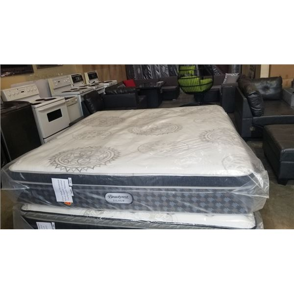 FLOOR MODEL KING SIZE BEAUTY REST SILVER DARNOLD COMFORT TOP MATTRESS RETAIL $2796