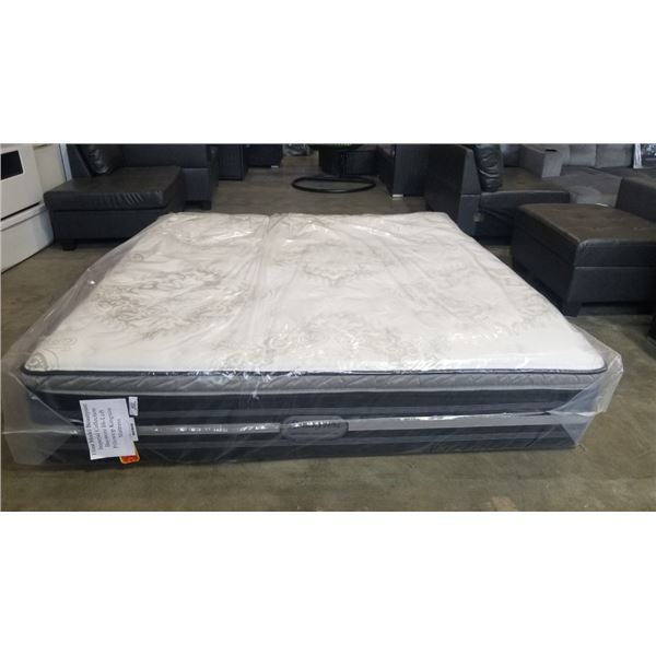 FLOOR MODEL KING SIZE BEAUTY REST IMPERIAL COLLECTION BAYMORE HI-LOFT PILLOWTOP MATTRESS RETAIL $219