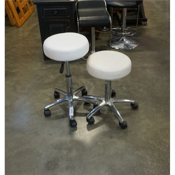 2 GAS LIFT ROLLING STOOLS