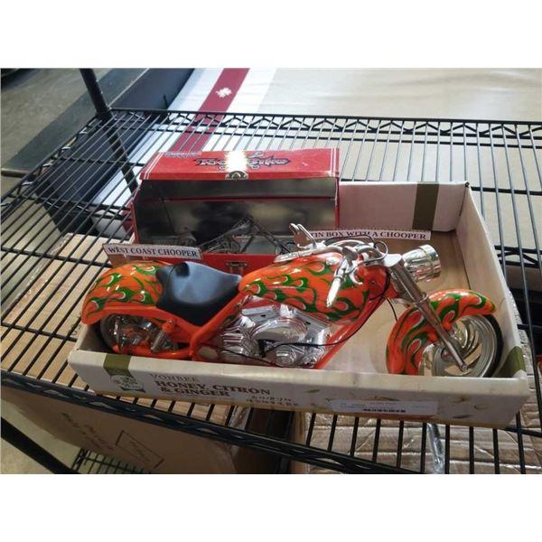 2 chopper models one in lunch box