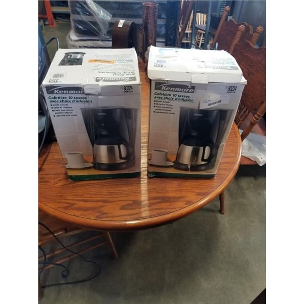 2 KENMORE COFFEE MAKERS