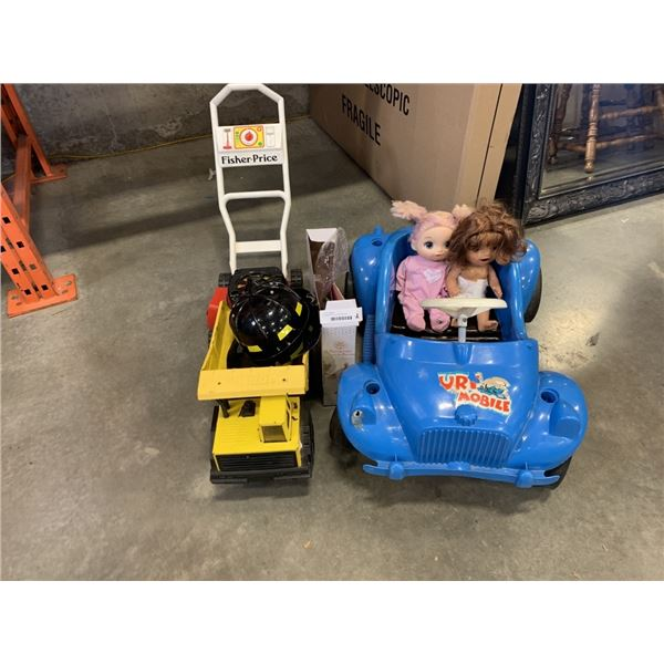 Vintage tonka truck and kids toys