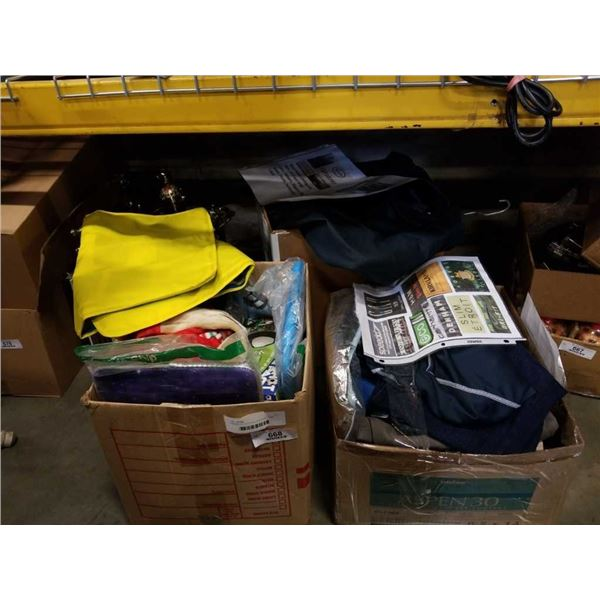 3 BOXES OF CLOTHING AND BABY ITEMS
