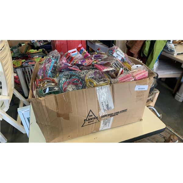 Large box of new hair accessories
