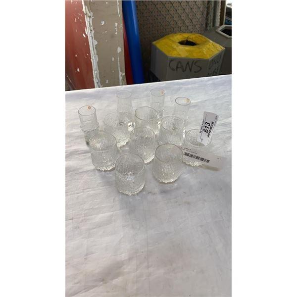 12 IIttala liquor glasses
