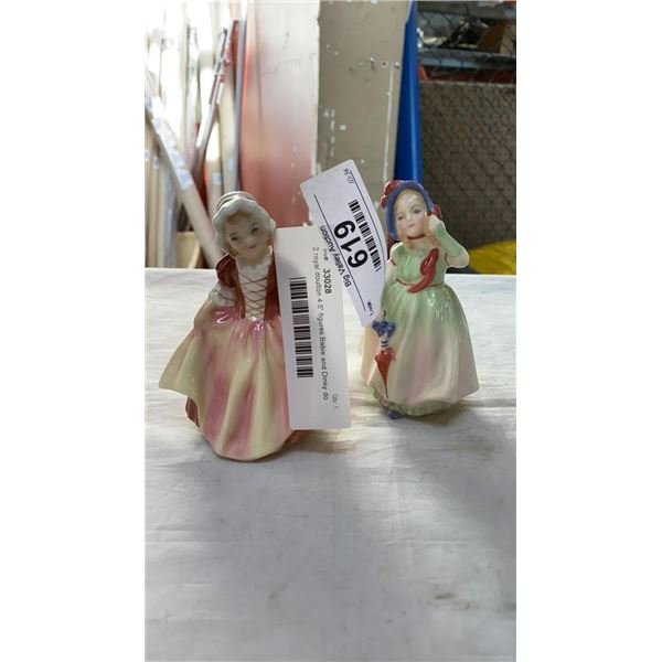 """2 royal doulton 4.5"""" figures Babie and Dinky do"""