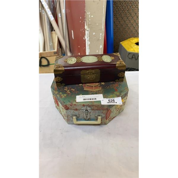 Eastern clay teaset and inlay box with eastern lock