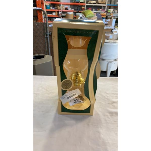 LAMPLIGHT FARMS CO OIL LAMP IN BOX