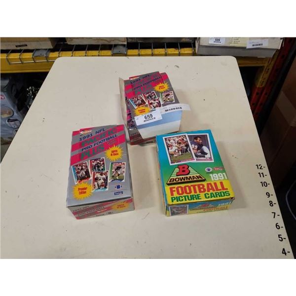 3 NEW BOXES 1990s FOOTBALL CARD PACKS