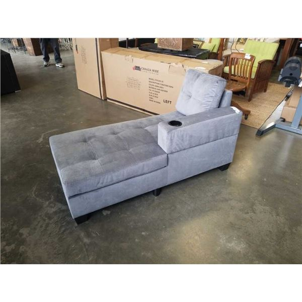 NEW GREY FABRIC CHAISE - MISSING SOFA