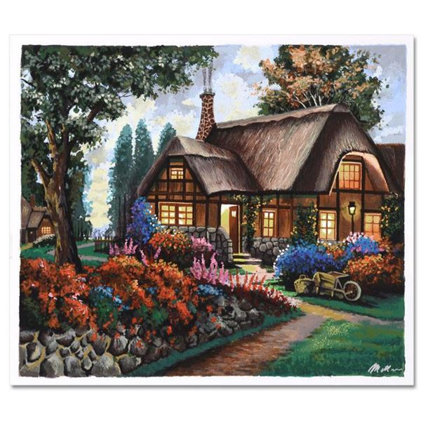 "Anatoly Metlan, ""Country House"" Limited Edition Serigraph, Numbered and Hand Signed with Certificate"