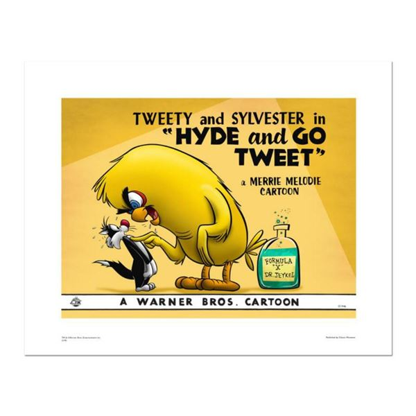 """Hyde and Go Tweet- color"" Numbered Limited Edition Giclee from Warner Bros. with Certificate of Aut"