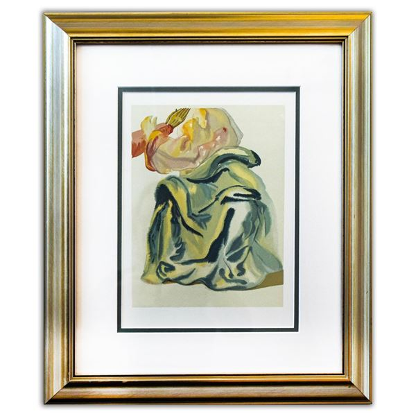 "Salvador Dali- Original Color Woodcut on B.F.K. Rives Paper ""Paradise 30"""