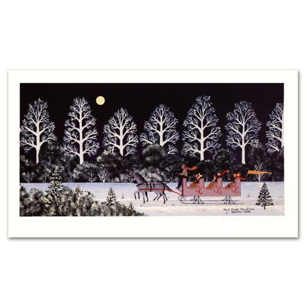 """Jane Wooster Scott, """"Trail Creek Sleigh Ride"""" Hand Signed Limited Edition Lithograph with Letter of"""
