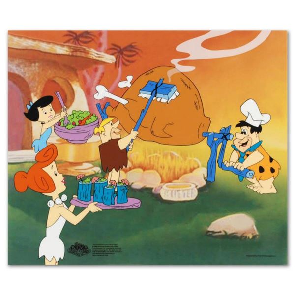 """""""Flintstones Barbecue"""" Limited Edition Sericel from the Popular Animated Series The Flintstones. Inc"""