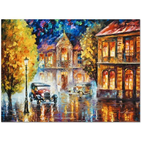 """Leonid Afremov (1955-2019) """"Los Angeles 1930"""" Limited Edition Giclee on Canvas, Numbered and Signed."""