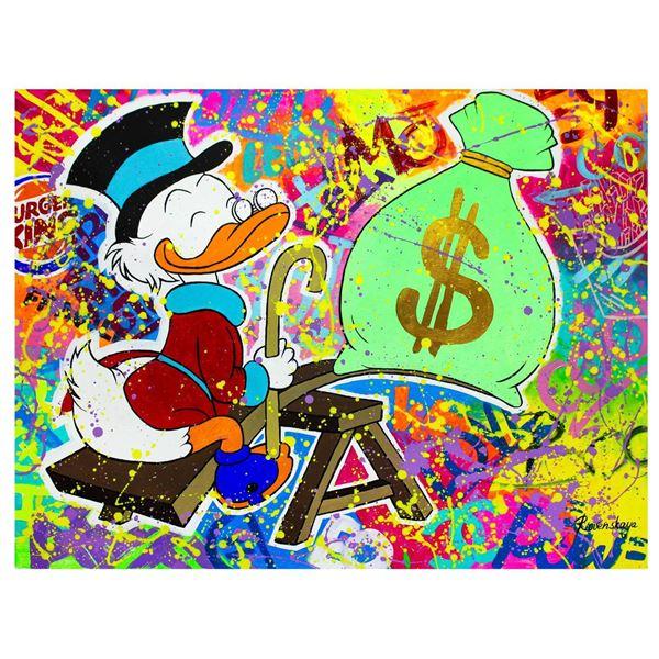 "Nastya Rovenskaya- Original Oil on Canvas ""Playing with Money"""