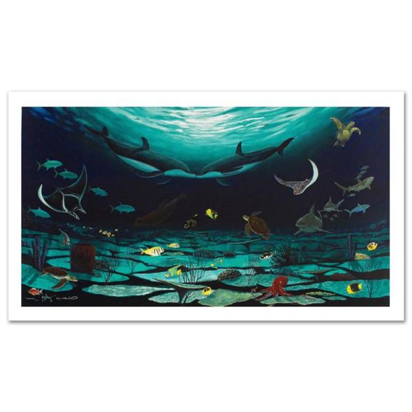 """""""Loving Sea"""" Limited Edition Giclee on Canvas (42"""" x 22.5"""") by Famed Artist Wyland, Numbered and Han"""