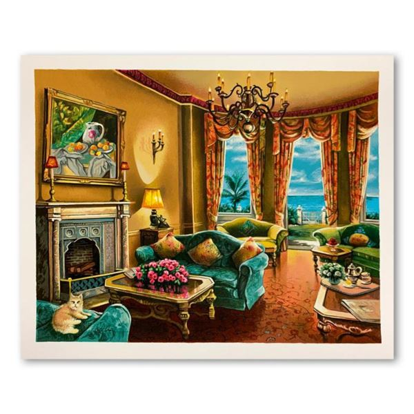 """Anatoly Metlan, """"Sunny Day in Florida"""" Hand Signed Limited Edition Serigraph on Paper with Letter of"""