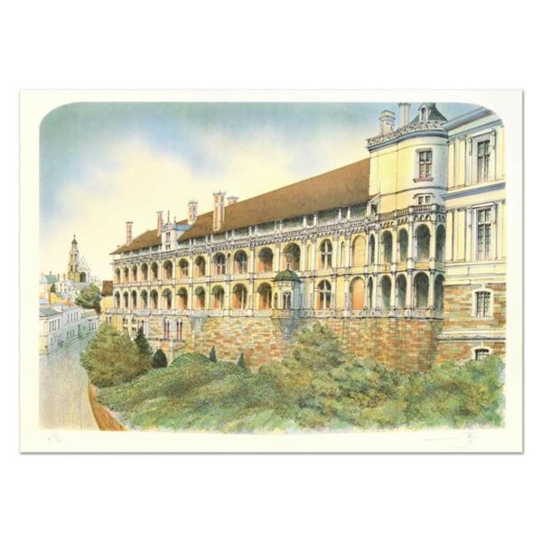 """Rolf Rafflewski, """"Chateau"""" Limited Edition Lithograph, Numbered and Hand Signed."""