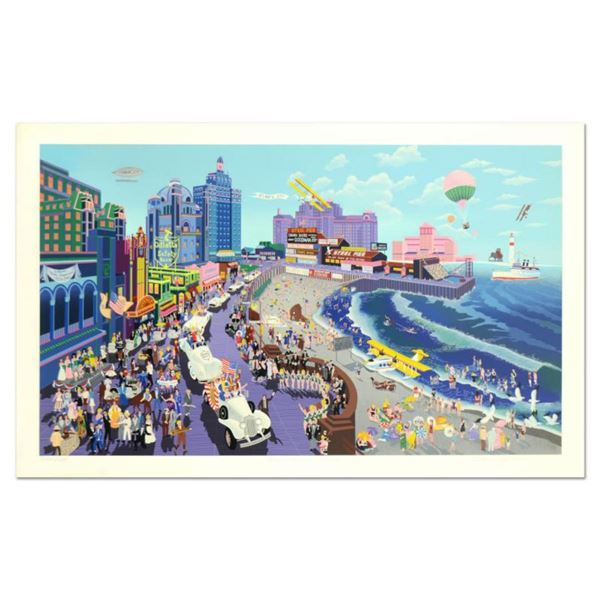 """Melanie Taylor Kent, """"Boardwalk of Atlantic City"""" Limited Edition Serigraph (44"""" x 26""""), Numbered an"""