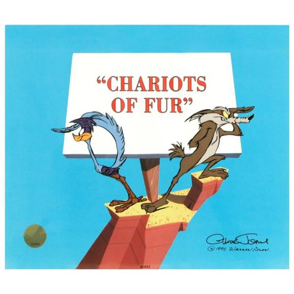 """""""Chariots of Fur"""" Limited Edition Animation Cel by Chuck Jones (1912-2002). With Hand Painted Color,"""