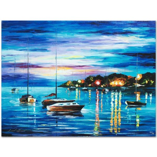 """Leonid Afremov (1955-2019) """"Out All Night"""" Limited Edition Giclee on Canvas, Numbered and Signed. Th"""