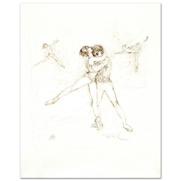 """""""Pas de Deux"""" Limited Edition Lithograph by Edna Hibel (1917-2014), Numbered and Hand Signed with Ce"""