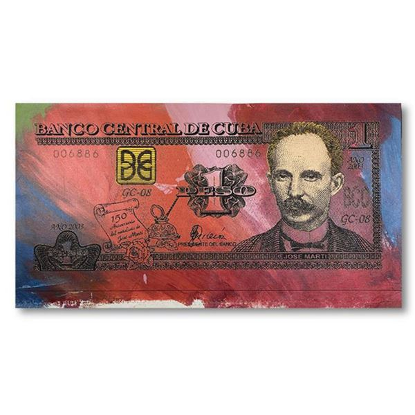 """Steve Kaufman (1960-2010) """"Cuban Money"""" Hand Signed and Numbered Limited Edition Hand Pulled silkscr"""