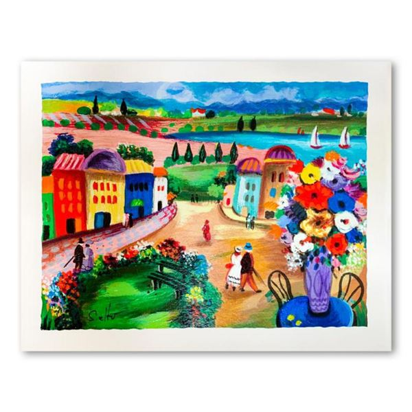 """Shlomo Alter, """"Spring Day"""" Hand Signed Limited Edition Serigraph on Paper with Letter of Authenticit"""