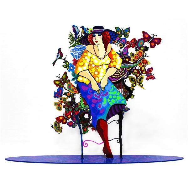"Patricia Govezensky- Original Painting on Cutout Steel ""Madam"""