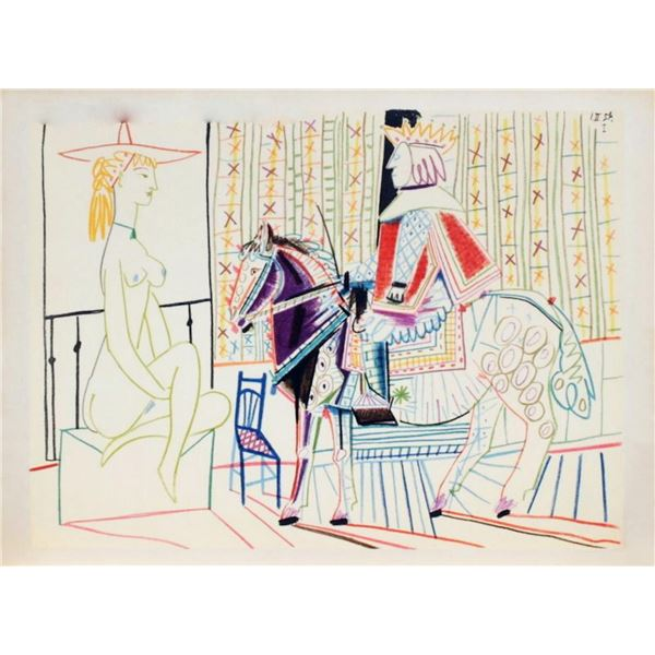 """Pablo Picasso- Lithograph """"Comedie Humaine : 01.2.54. I"""""""