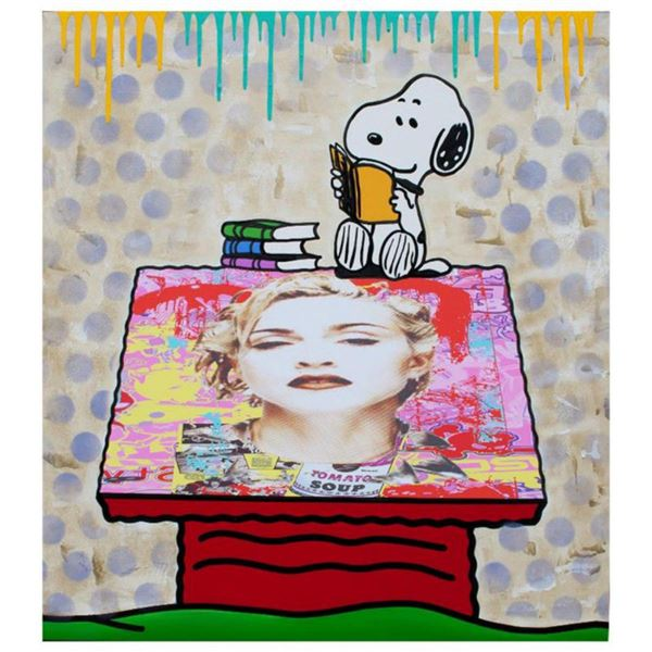 "Jozza, ""My House #5"" Hand Signed Original Mixed Media on Canvas with COA."
