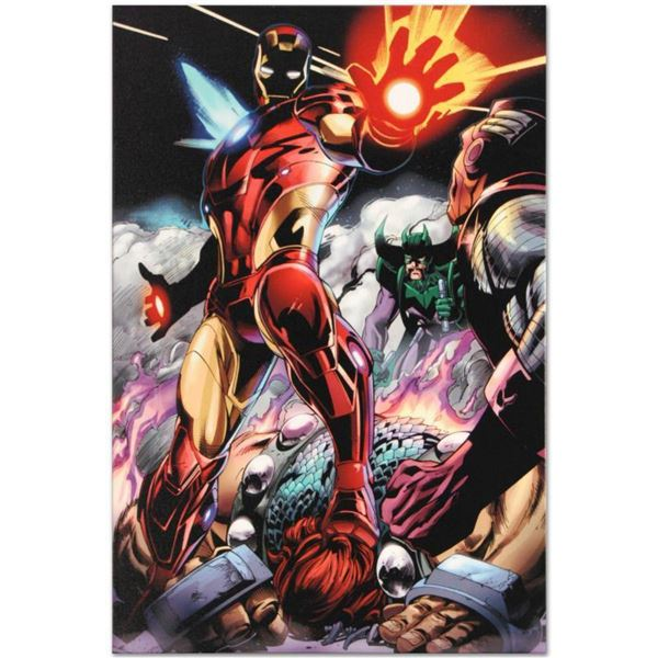 """Marvel Comics """"Iron Man/Thor #2"""" Numbered Limited Edition Giclee on Canvas by Scot Eaton with COA."""