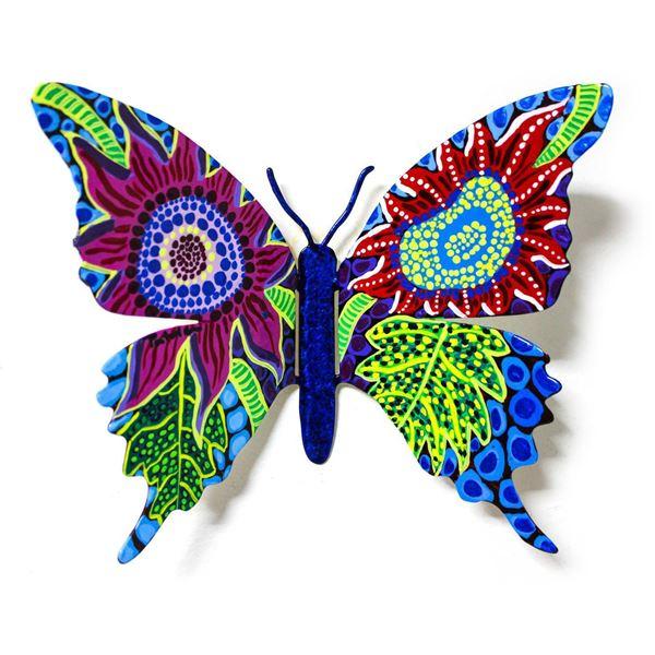"Patricia Govezensky- Original Painting on Cutout Steel ""Butterfly CXI"""