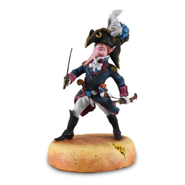 "Mihail Chemiakin, ""The Officer-Rat with Sword"" Limited Edition Hand Casted, Hand Painted Figurine fr"